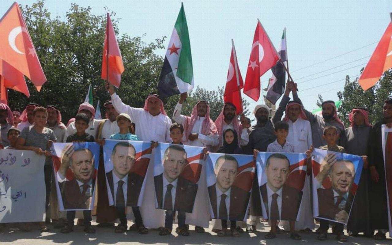 Afrin'de Türkiye'ye teşekkür yürüyüşü
