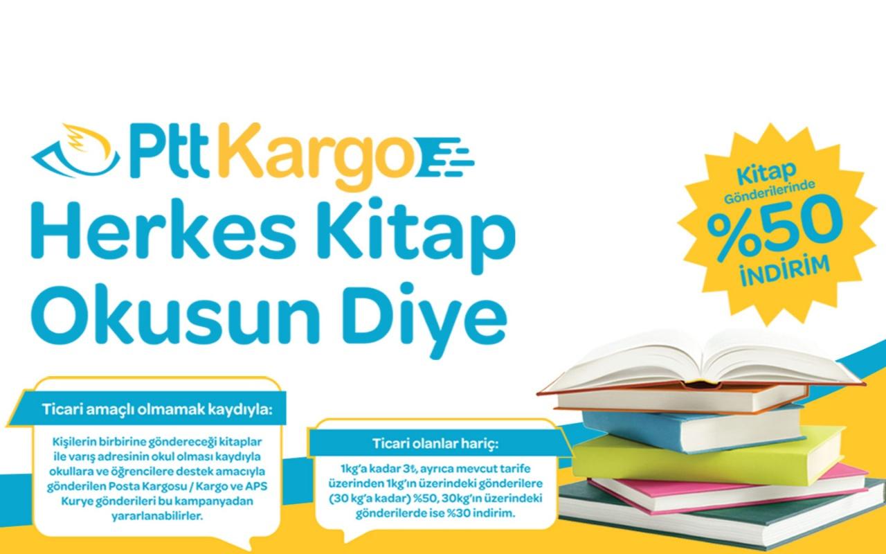 PTT AŞ Kitap Taşıma Kampanyası ile %50'ye varan indirim