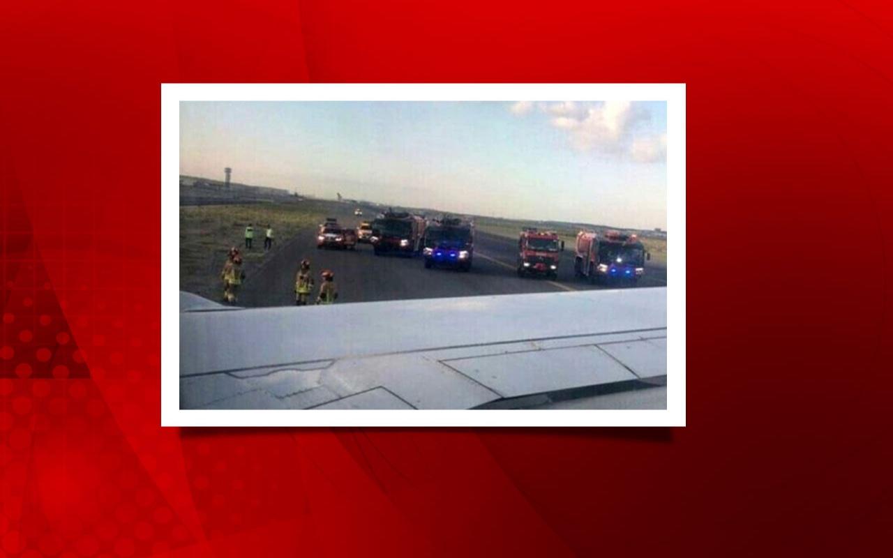THY uçağı taksi yolundan çıktı büyük panik yaşandı