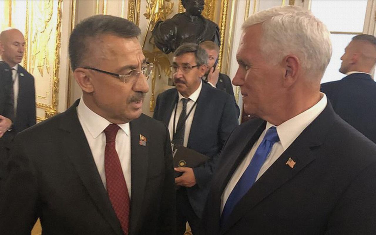 Fuat Oktay ile Mike Pence Varşova'da görüştü