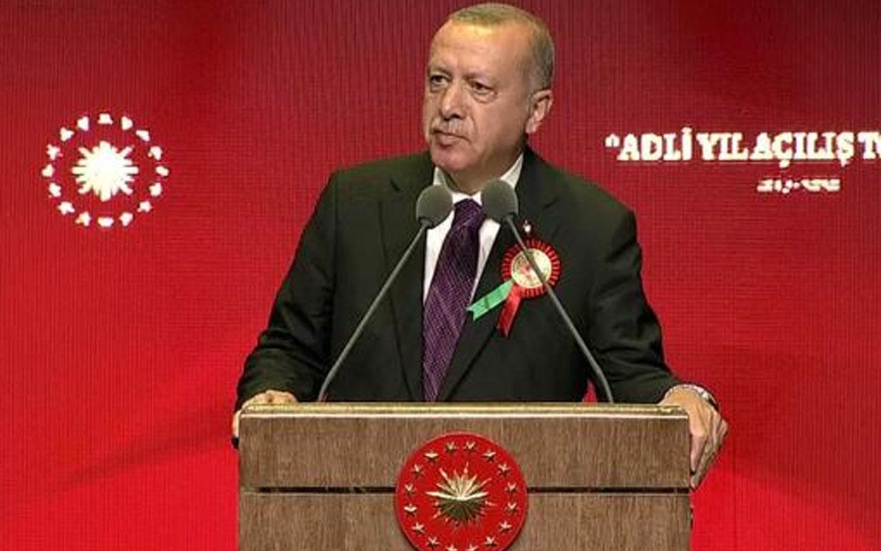 Erdoğan'dan her adli yıl açılışı öncesi yaşanan tartışmaya tepki! Hepimizin evidir!