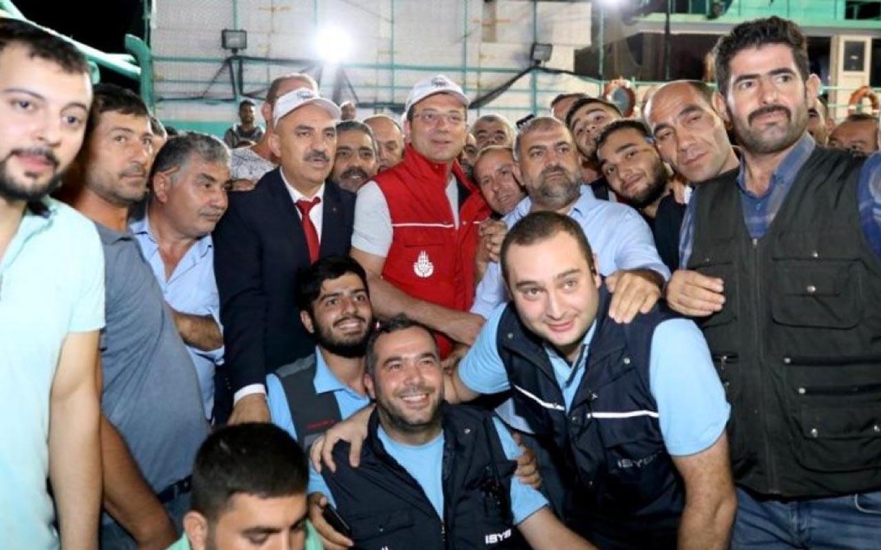 """Balıkçılar """"vira bismillah"""" dedi! Ekrem İmamoğlu balık mezatı yönetti"""
