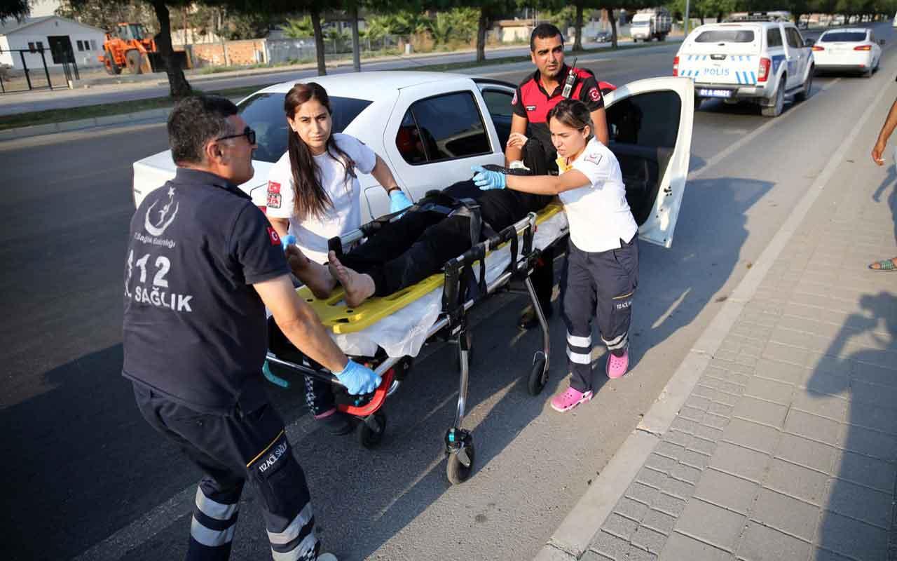 Adana'da eşiyle tartışan hamile kadın kendini otomobilden attı