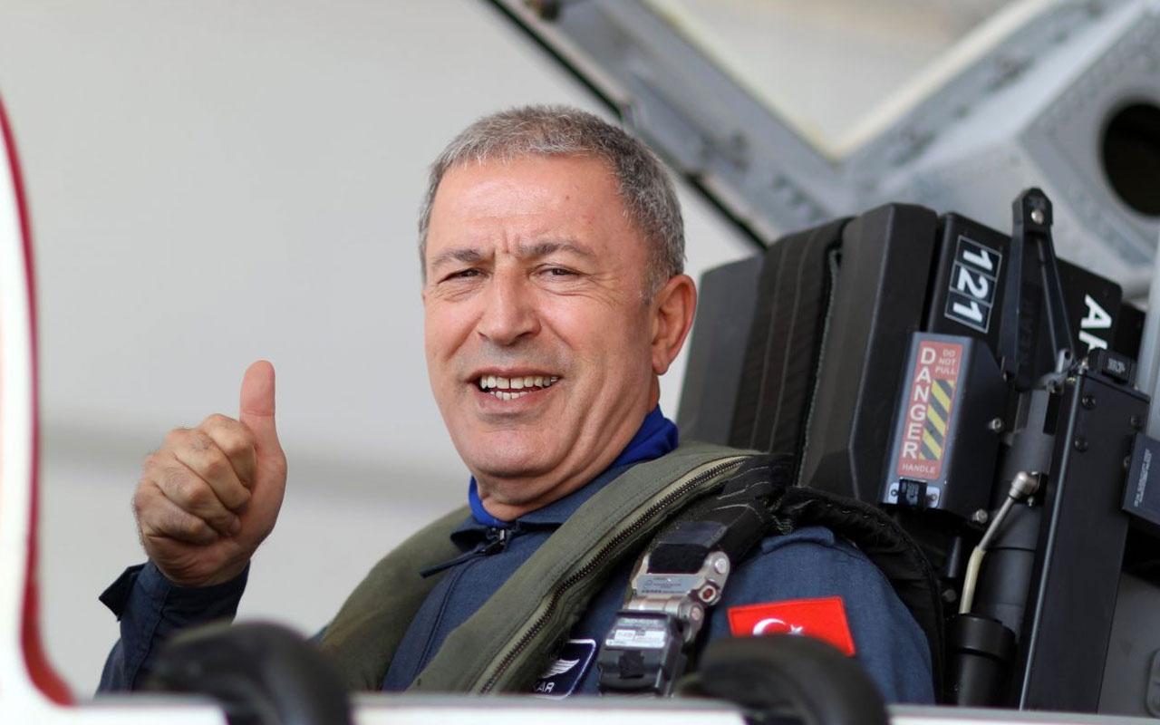 Bakan Hulusi Akar pilot koltuğuna geçip Ege semalarında uçtu Yunanlar çıldıracak
