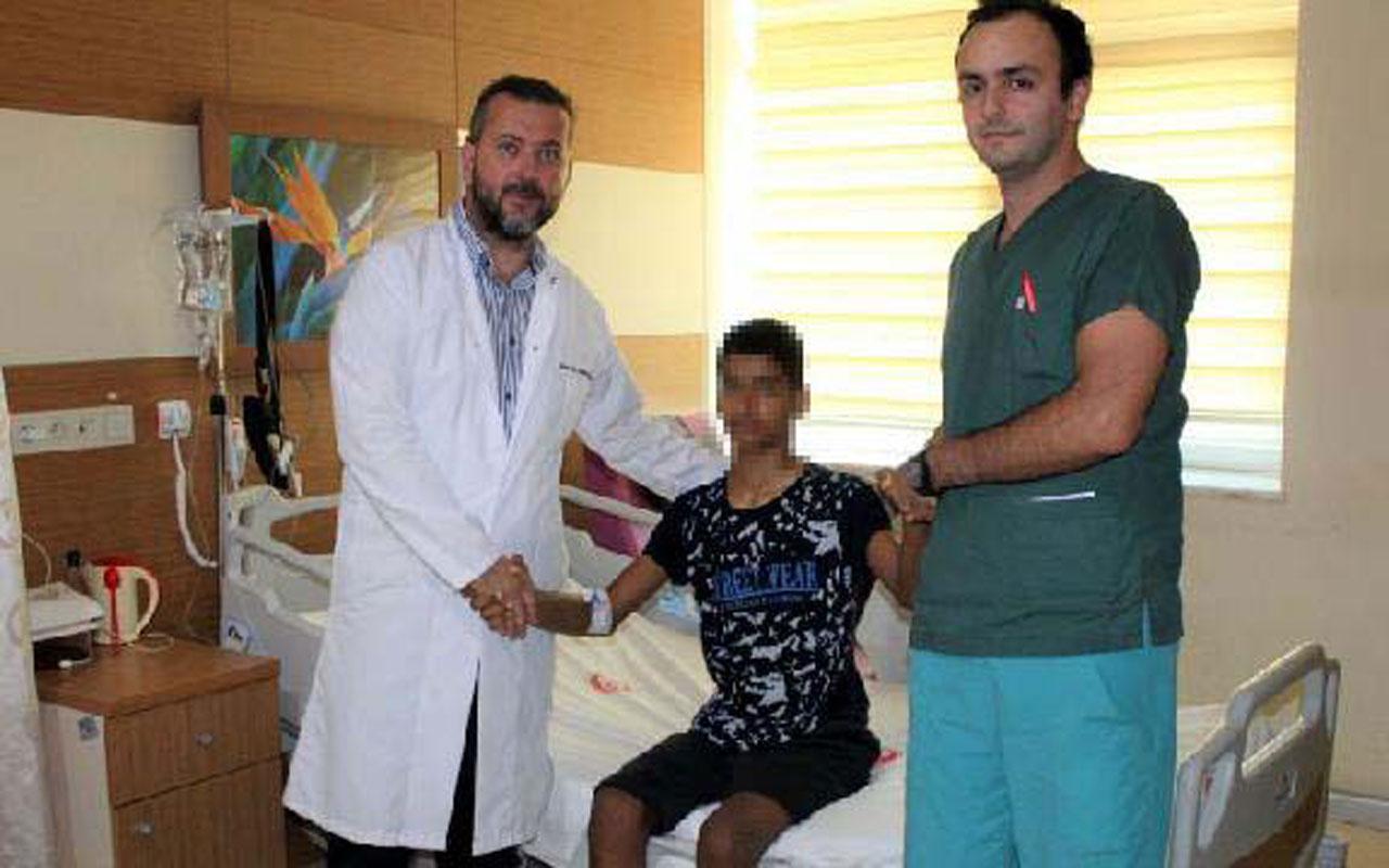 Çanakkale'de 14 yaşındaki çocuk sırt kamburluğu ameliyatı ile 10 santim uzadı