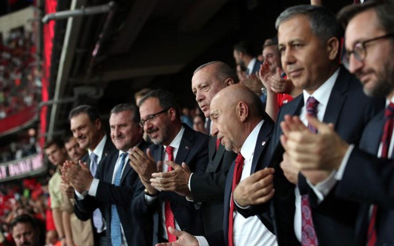Son dakikada gelen gol Cumhurbaşkanı Erdoğan'ı sevindirdi