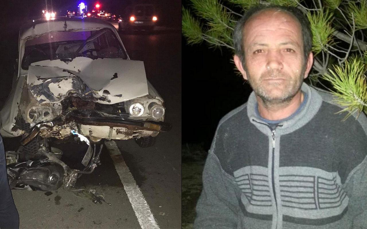 Burdur'da otomobil ile motosiklet çarpıştı: 1 ölü, 4 yaralı