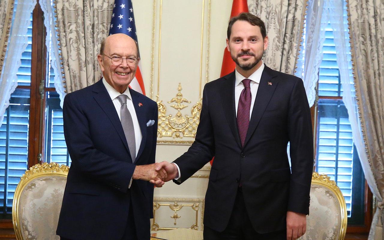 Bakan Berat Albayrak ABD Ticaret Bakanı Ross'u kabul etti! 100 milyar dolarlık...
