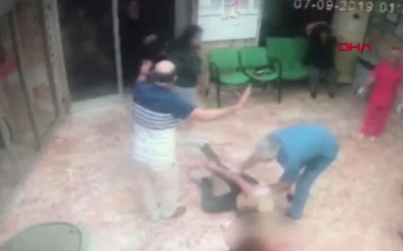 Sultangazi'de hastane içindeki eski koca dehşeti kamerada