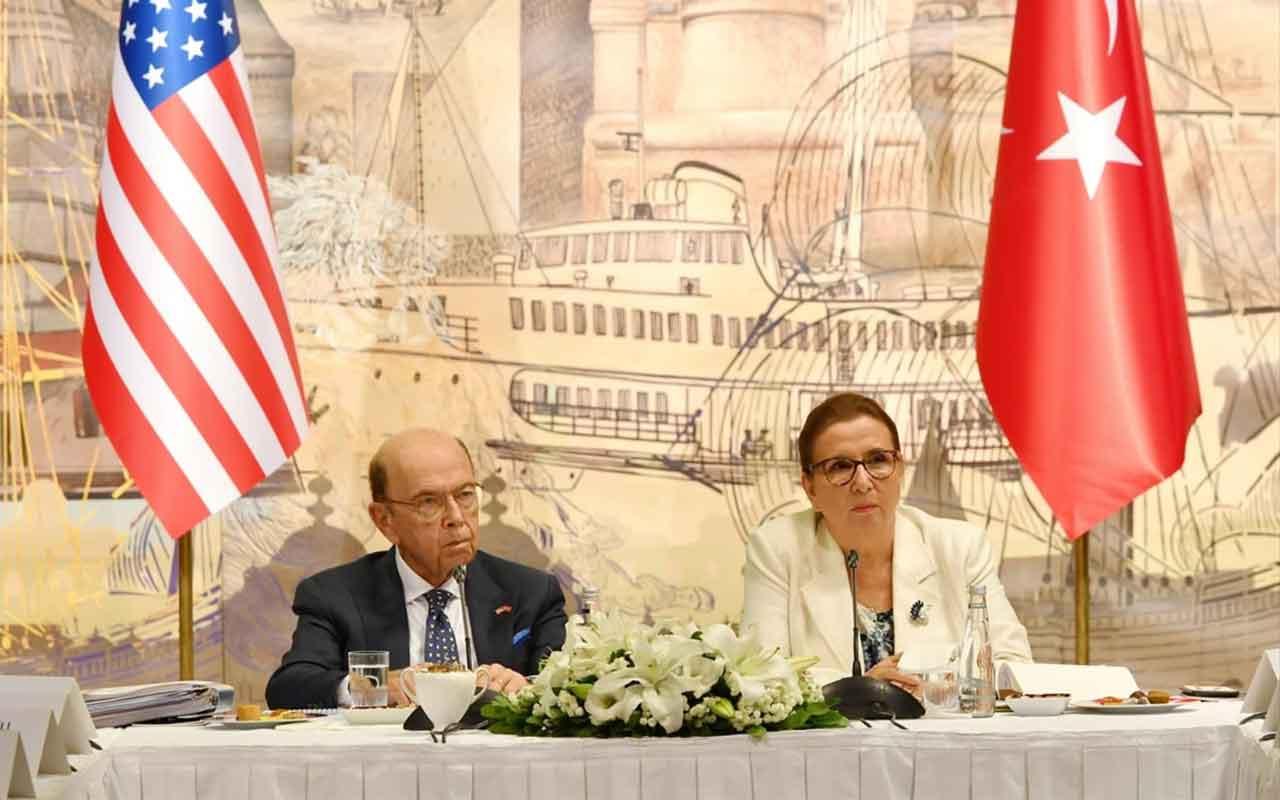 Ruhsar Pekcan ABD Ticaret Bakanı Wilbur Ross ile görüştü