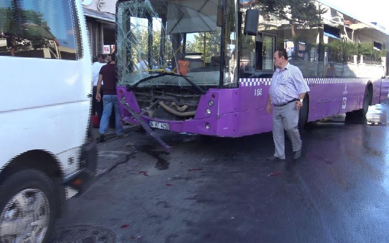Avcılar'da İETT otobüsü 5 araca çarptı: 5 yaralı