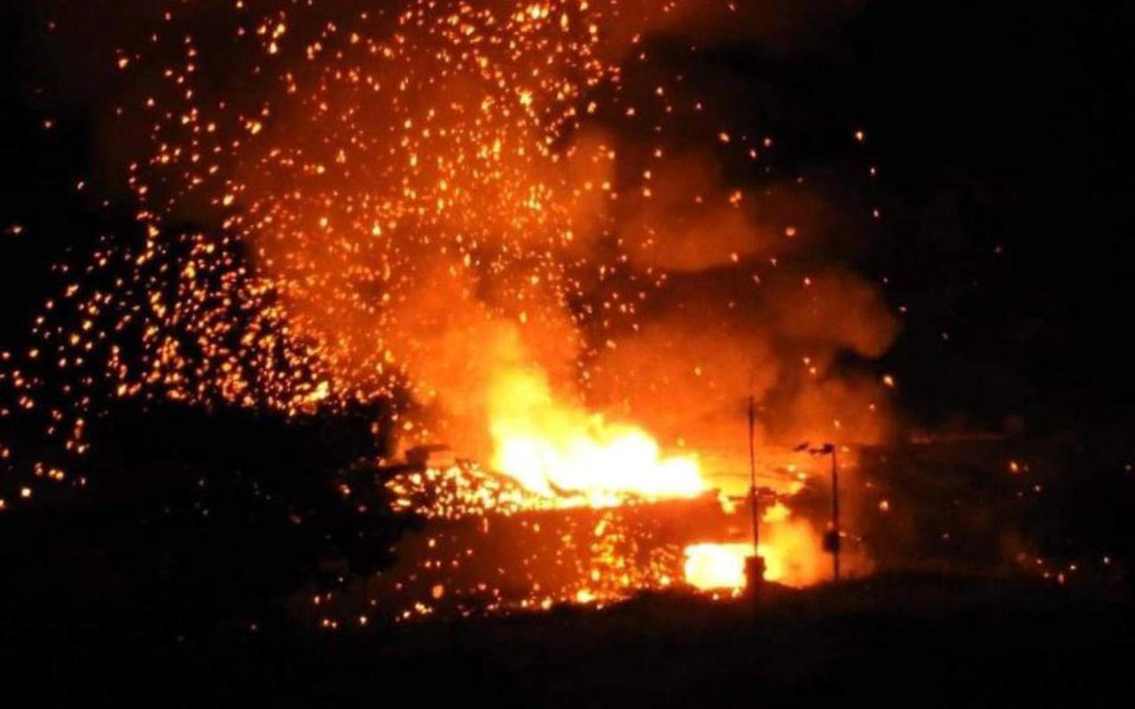 KKTC'de askeri bölgede art arda şiddetli patlamalar meydana geldi
