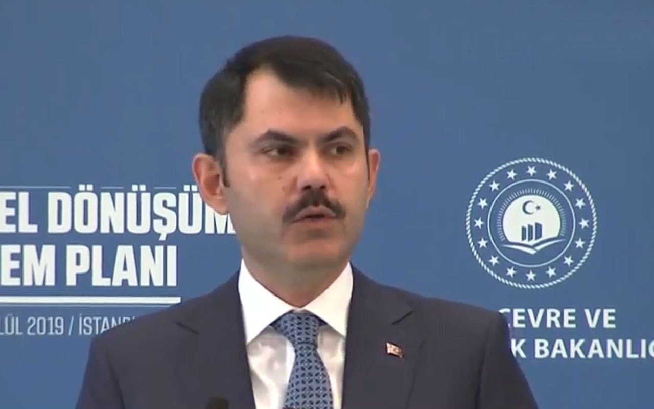 Bakan Murat Kurum kentsel dönüşüm eylem planını açıkladı