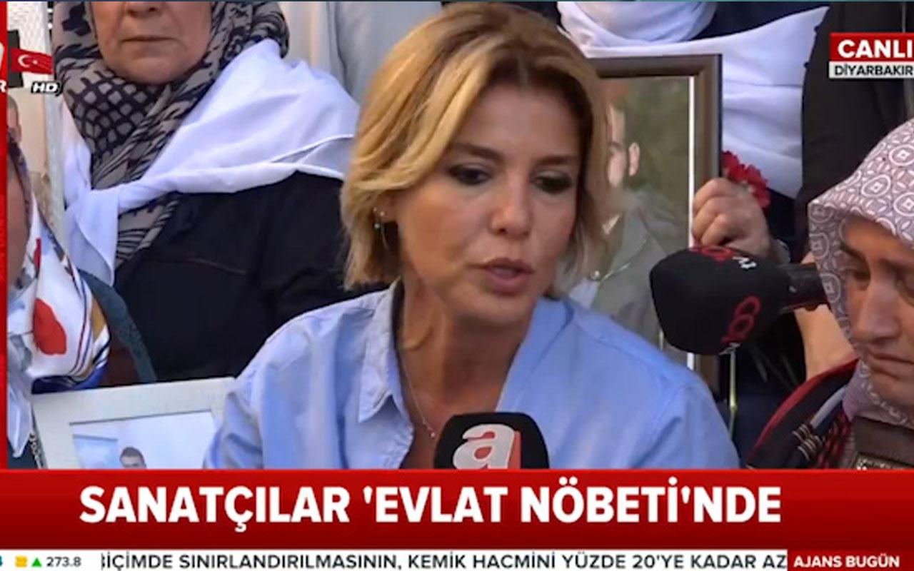 Gülben Ergen'den 'Evlat Nöbeti'ndeki annelere destek!