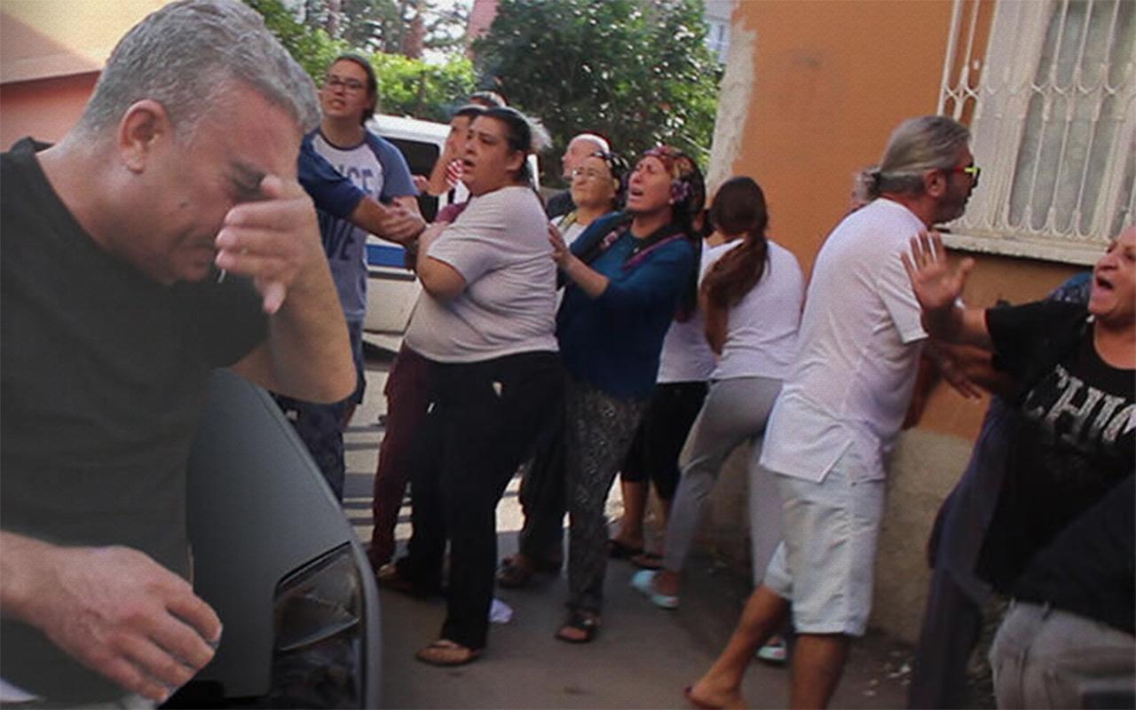 Adana'da cinayet zanlısının evinin taşınmasında arbede
