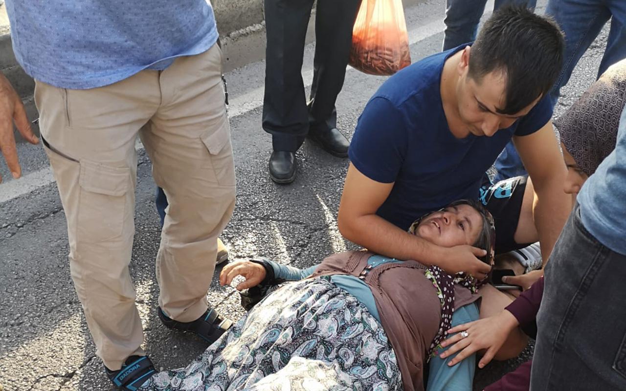 Zonguldak'ta bir kişi çarptığı kadının başından ayrılmadı