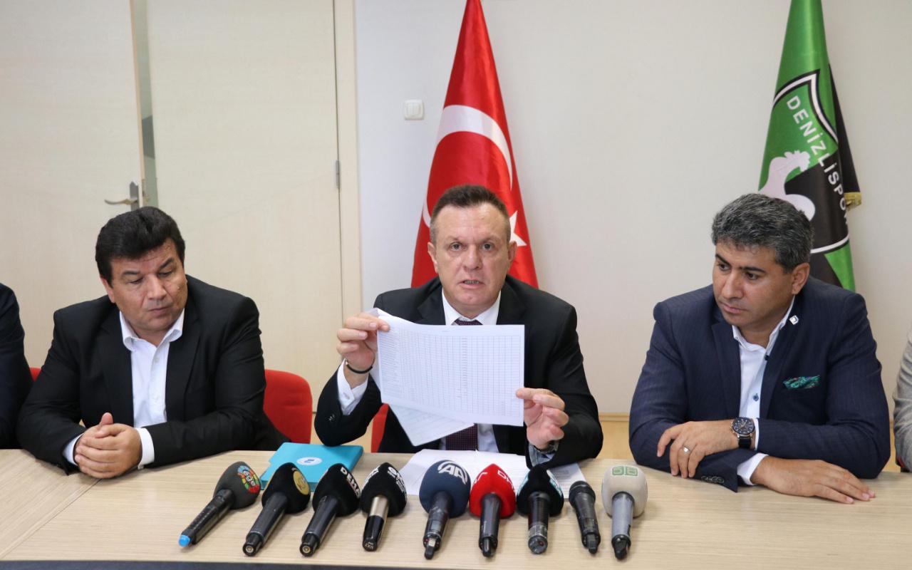 Denizlispor'un borcu belli oldu