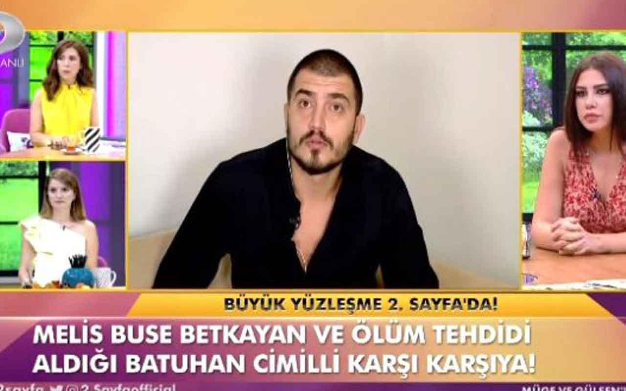 Melis Buse Betkayan ve Batuhan Cimilli canlı yayında birbirine girdi
