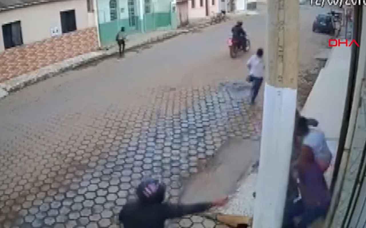 Siper ettiği beton direk hayatını bakın nasıl kurtardı