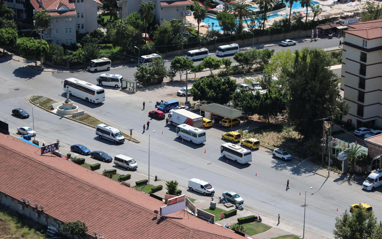 Antalya'da helikopterli trafik denetiminde sürücülere 30 sürücüye ceza