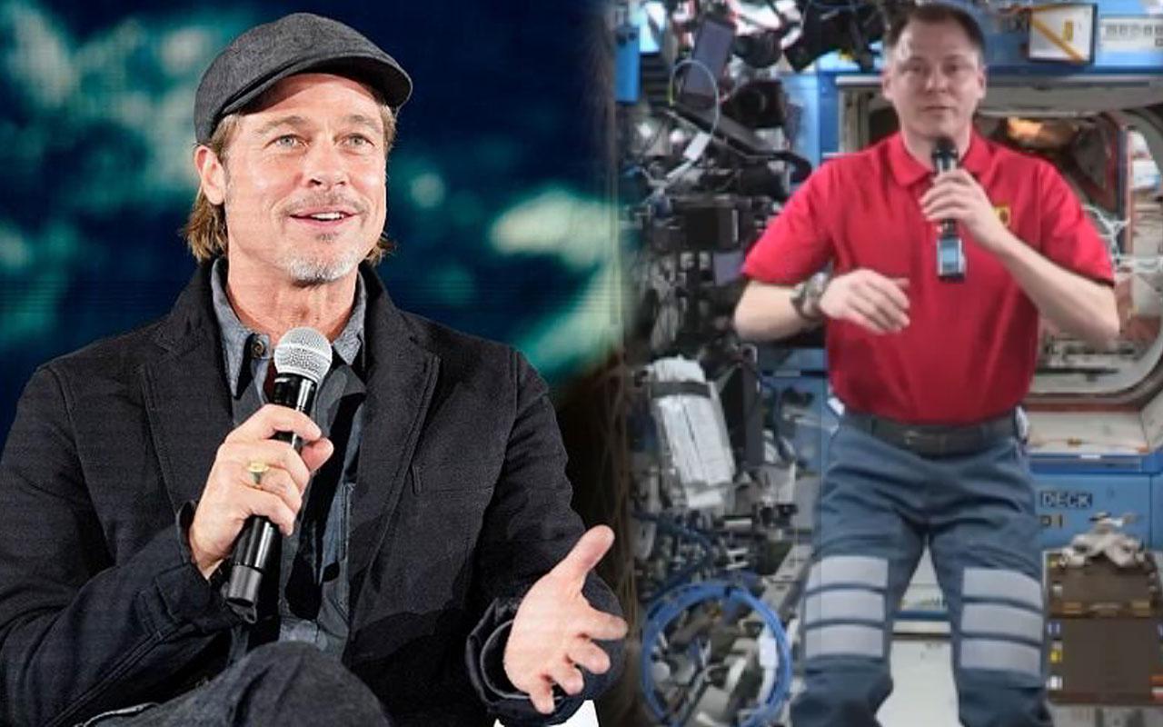 Astronotu canlandıracak olan Brad Pitt uzaydaki astronot Nick Hague ile röportaj yaptı