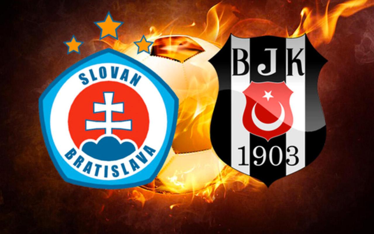 Beşiktaş'ın Slovan Bratislava maçı kadrosu belli oldu
