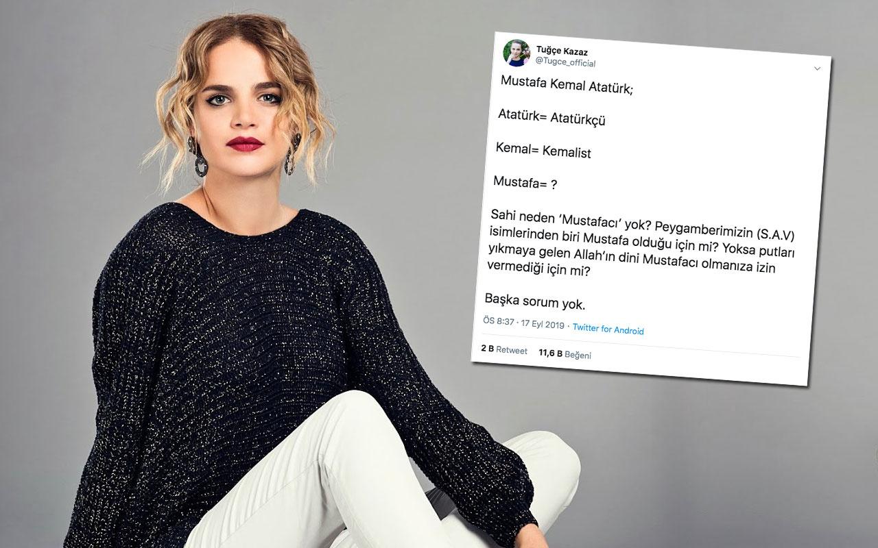 Tuğçe Kazaz' beyin yakan Atatürk sorusuyla sosyal medyada infial yarattı