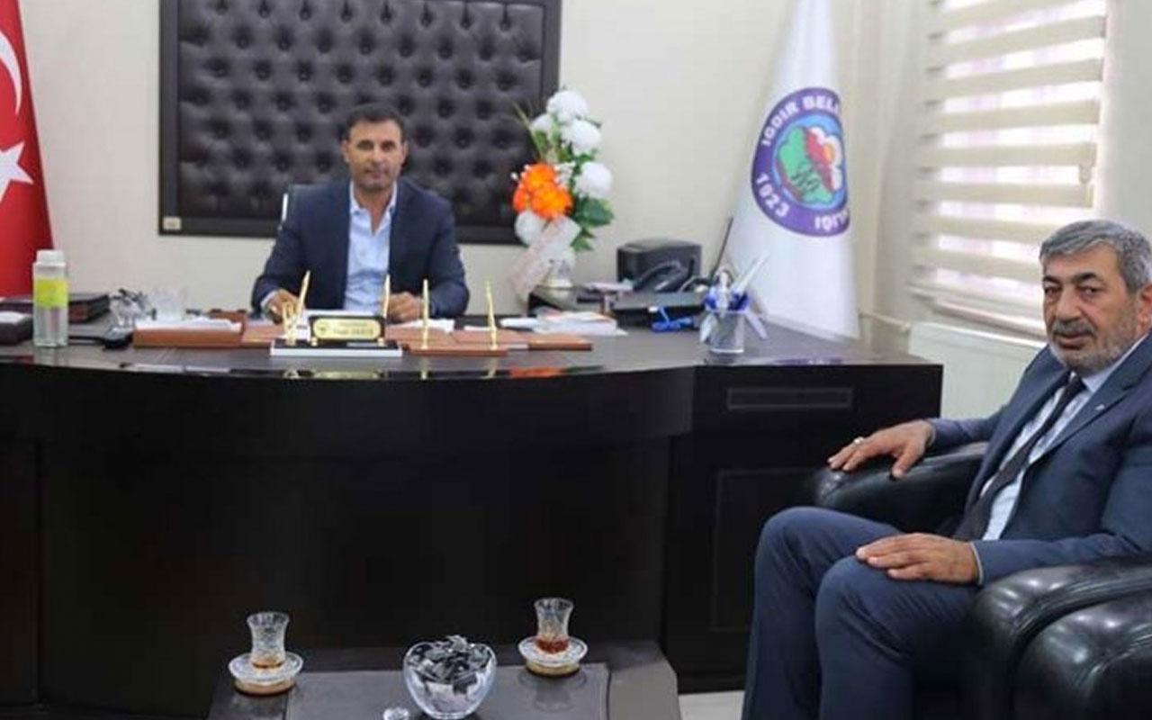Iğdır'da MHP'li başkan HDP'li başkanı makamında ziyaret etti