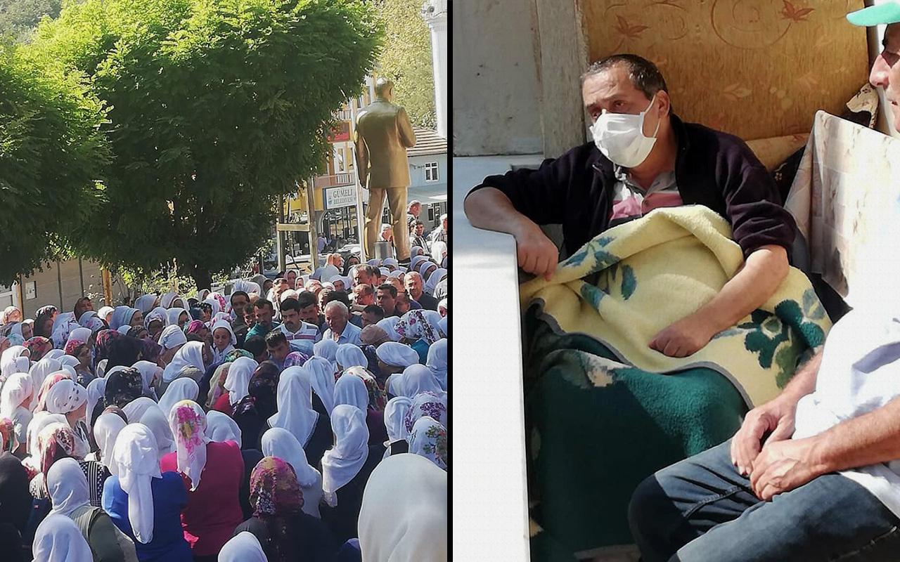 Zonguldak'ta bir baba kendisine böbreğini veren oğluna son kez böyle baktı