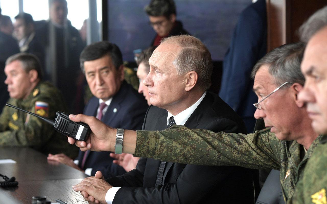 Putin Merkez-2019 tatbikatını izledi! 8 ülkeden 128 bin askerin katılıyor