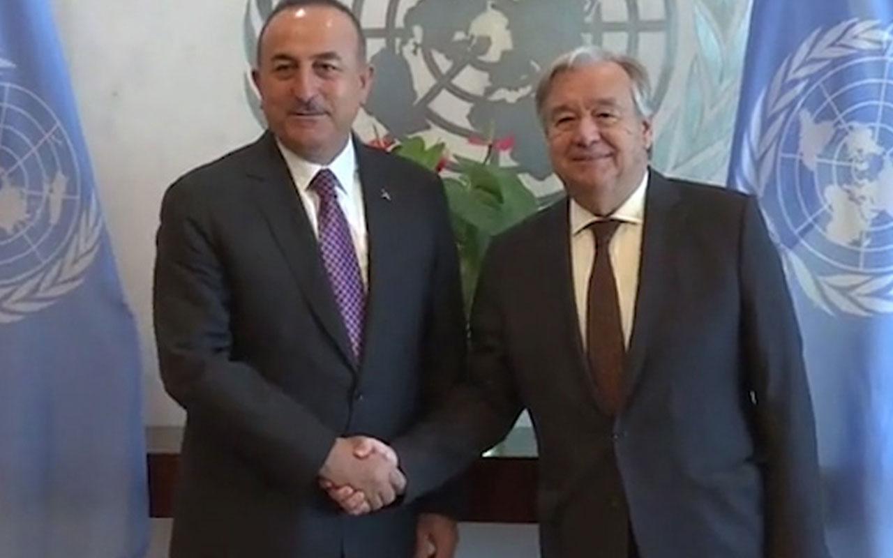 Bakan Çavuşoğlu Guterres ile 'evlat nöbetindeki aileleri' görüştü