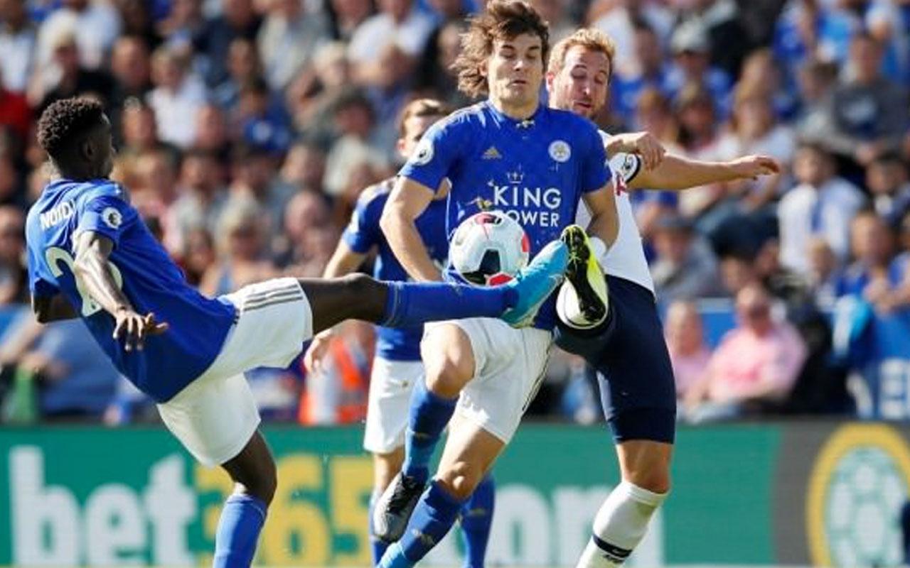 90 dakika sahadaydı Çağlar'lı Leicester Tottenham'ı acımadı