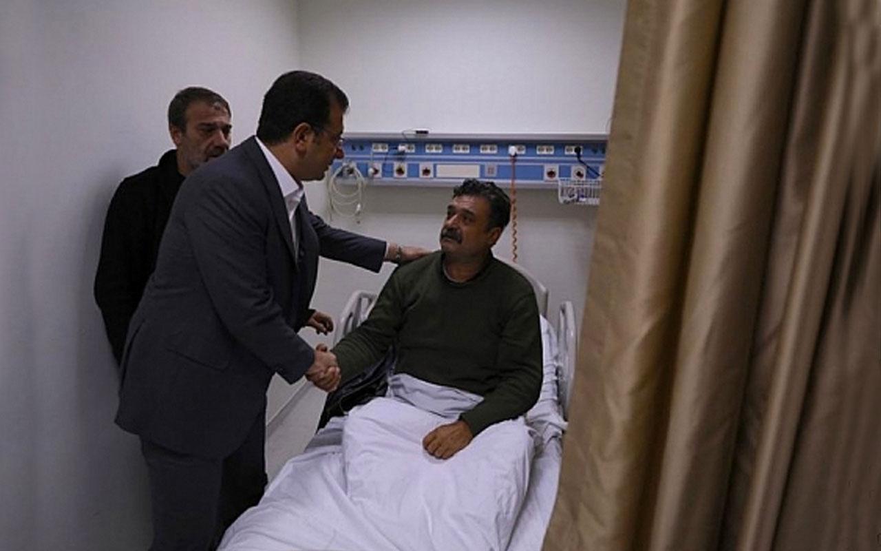 Neslican Tay'ın ailesini hastanede ziyaret eden Ekrem İmamoğlu ağladı