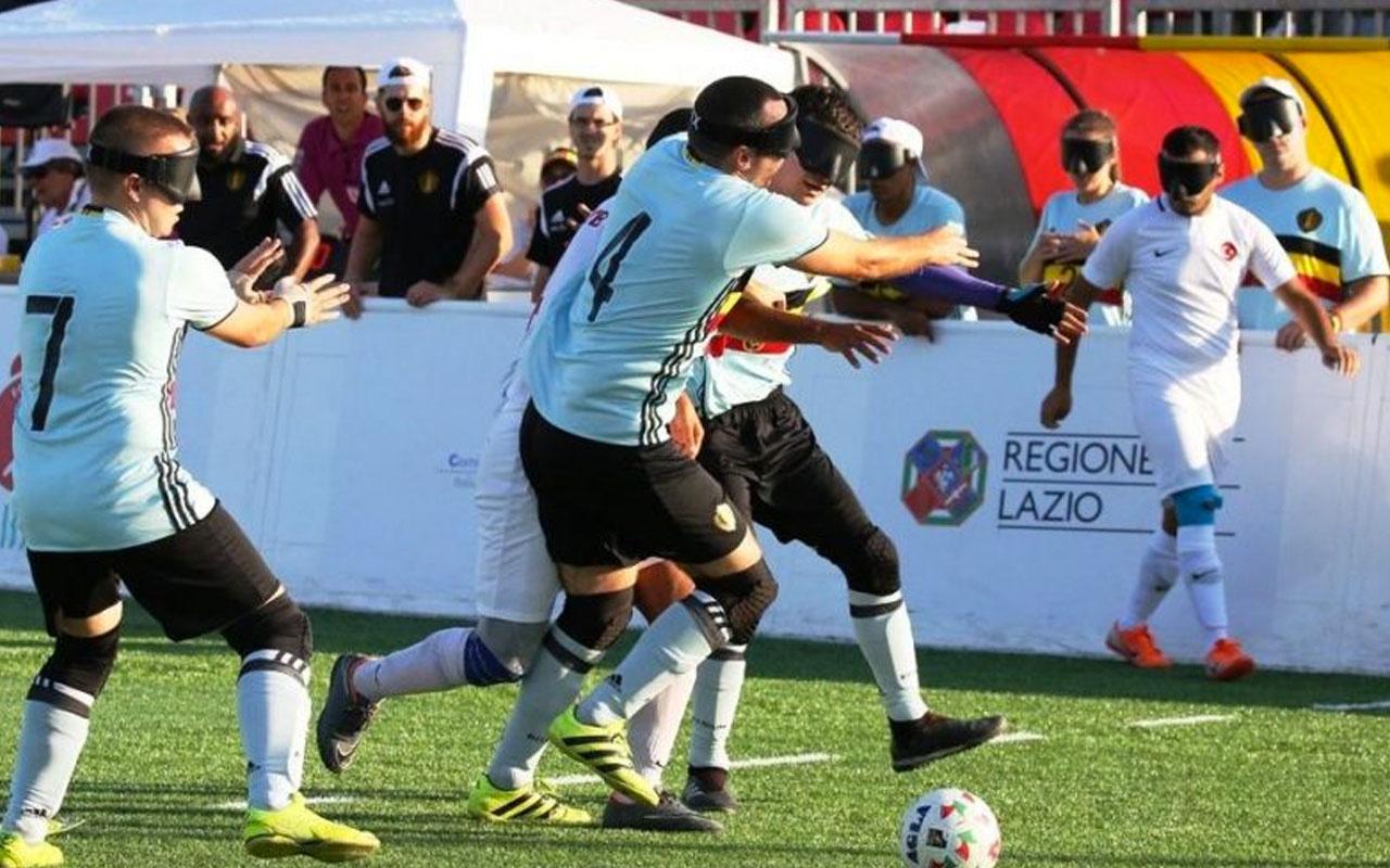 Görme Engelliler Futbol Milli Takımı'ndan büyük başarı yarı finale yükseldiler