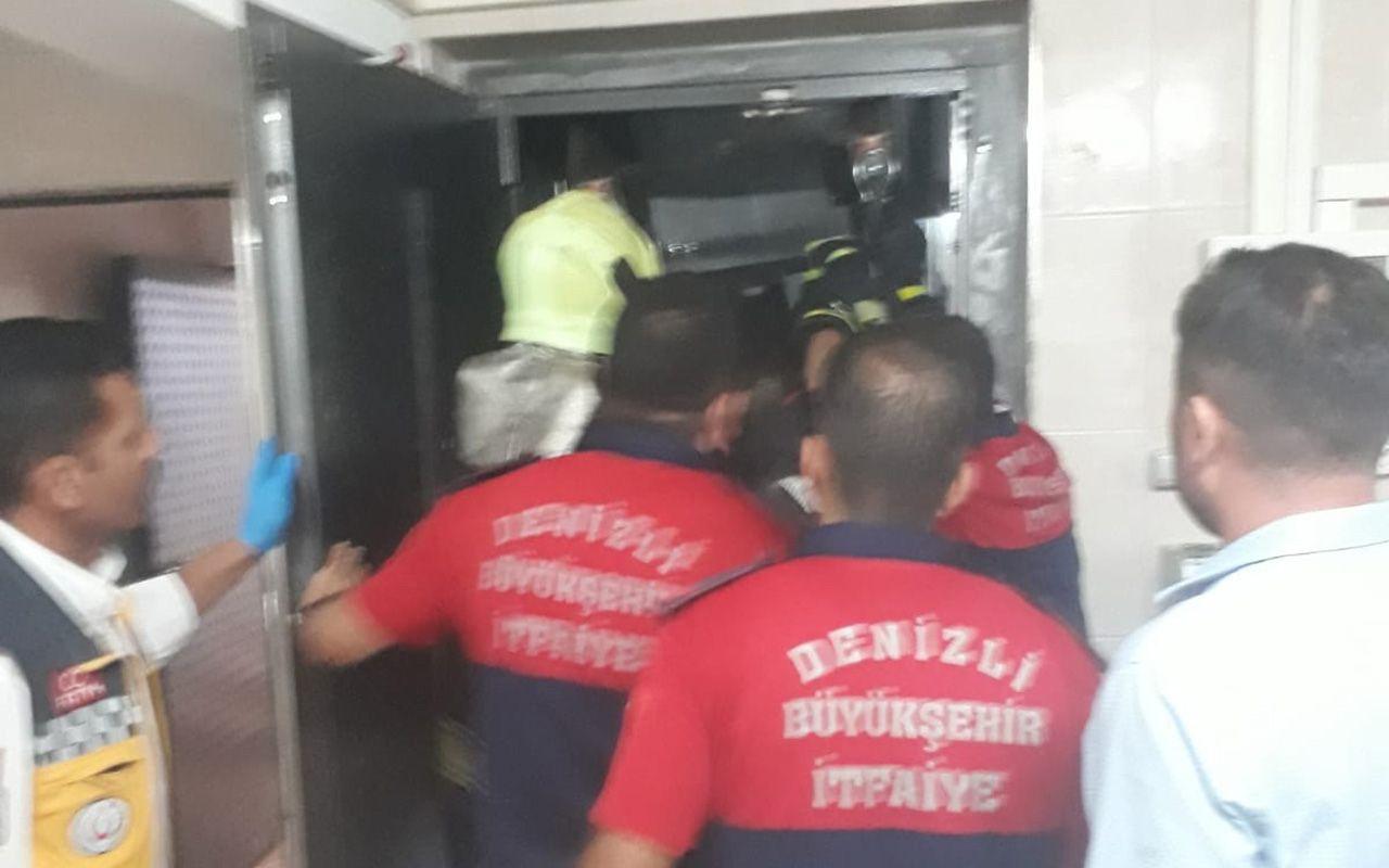 Denizli'de yük asansörü ile duvar arasına sıkışan çocuk hayatını kaybetti