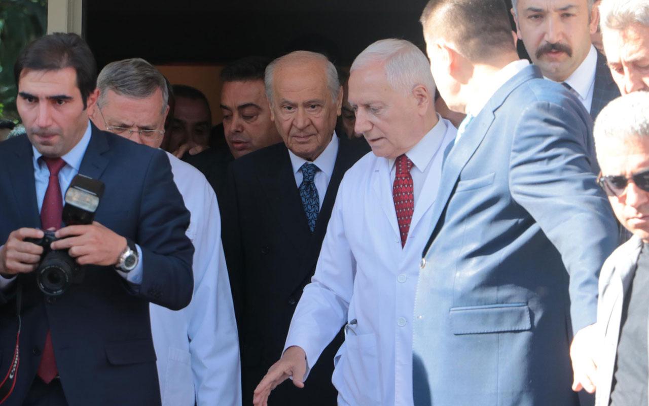MHP lideri Devlet Bahçeli hastaneden taburcu oldu işte görüntüleri