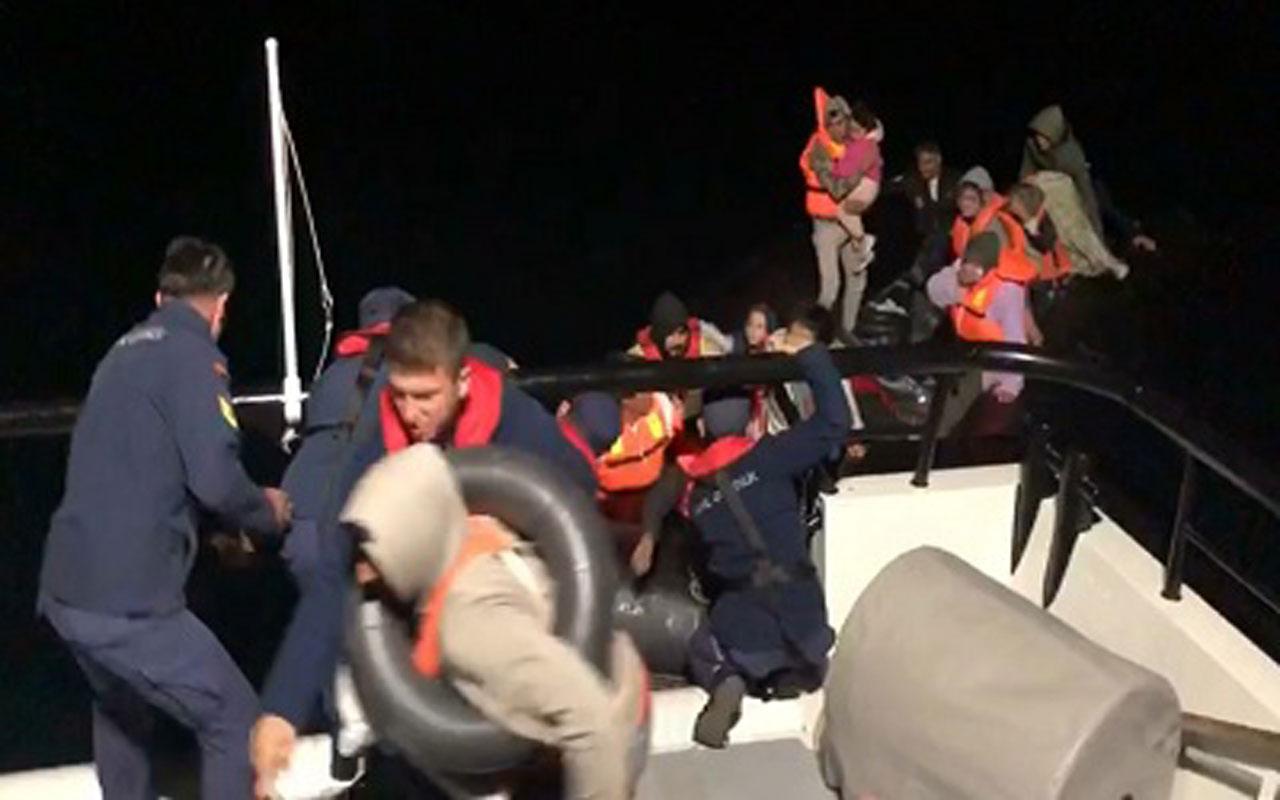Edirne'den lastik botla Yunanistan'a geçmeye çalışan 40 düzensiz göçmen yakalandı