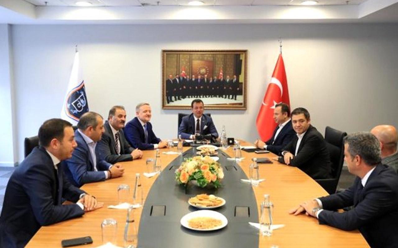 İmamoğlu'ndan Medipol Başakşehir'e ziyaret!