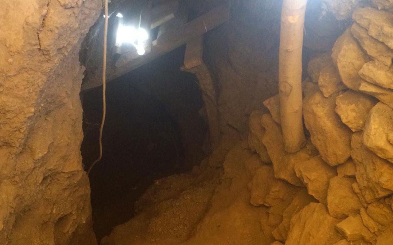 Bahçesine kazdığı tünelin uzunluğu şaşırttı
