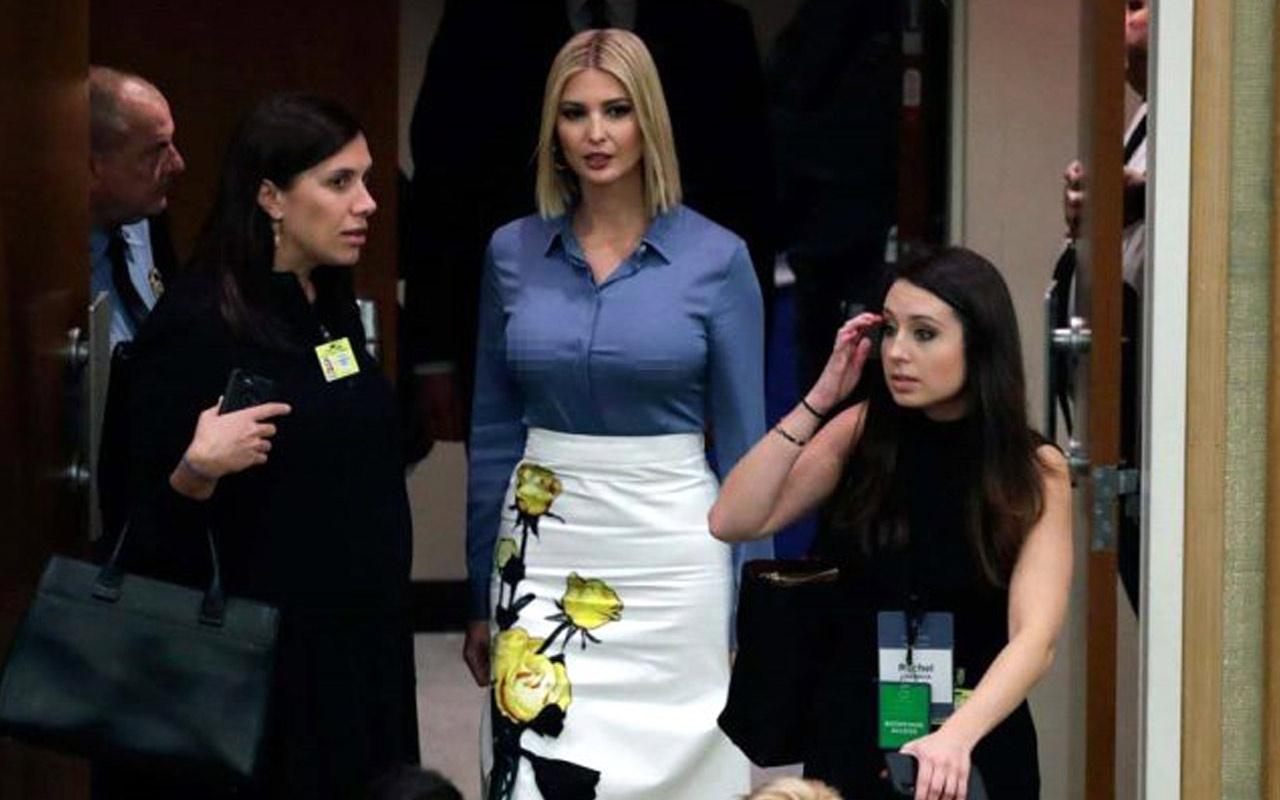 Ivanka Trump BM'de göğüs uçlarını gösterdi! ABD başkanının kızı olay