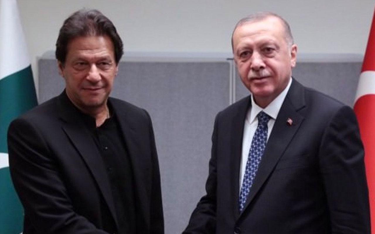 Başbakan İmran Han'dan  Erdoğan'a Keşmir teşekkürü