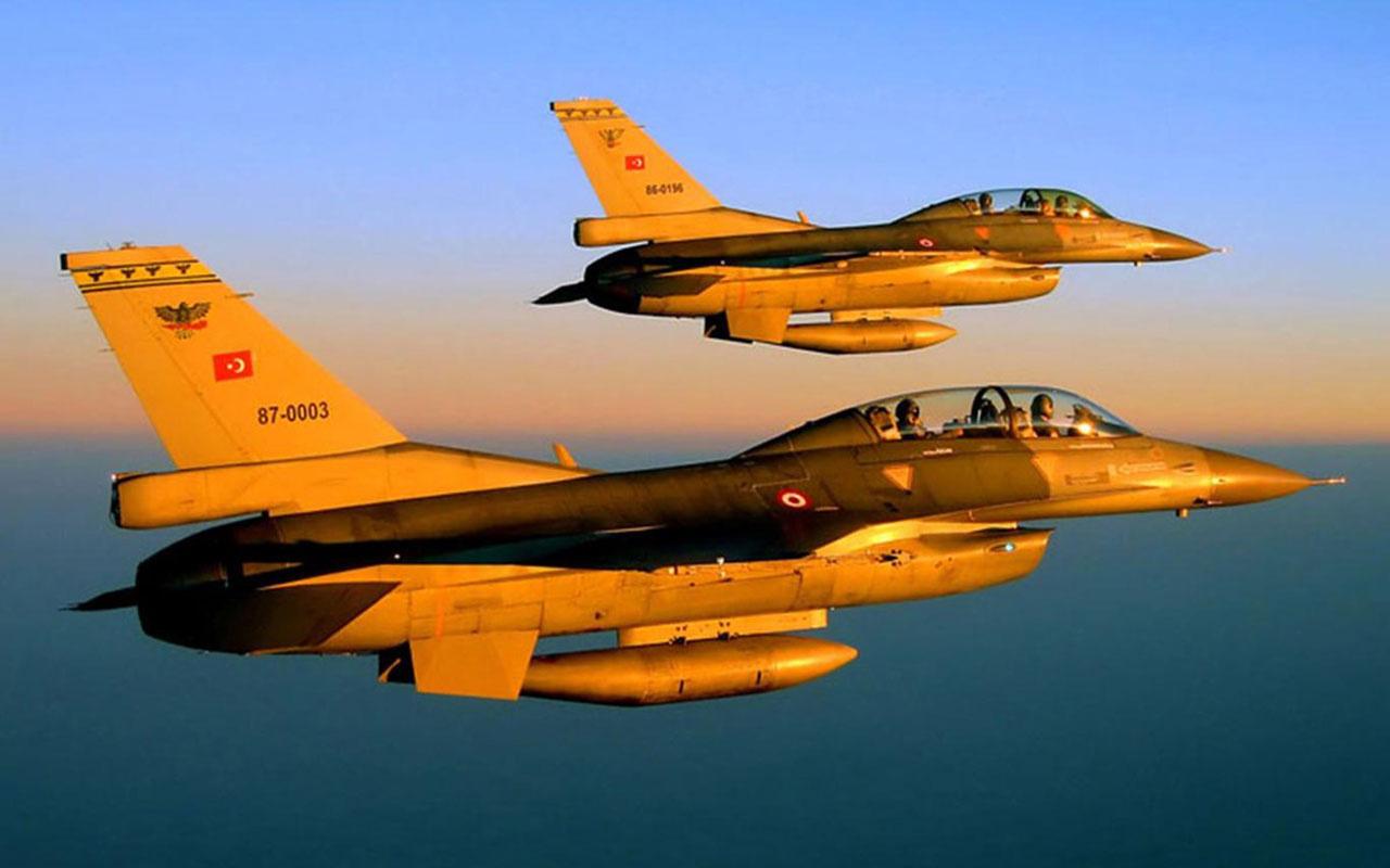 MSB açıkladı!  2 F-16 Suriye hava sahasında 2 saat uçuş icra etti