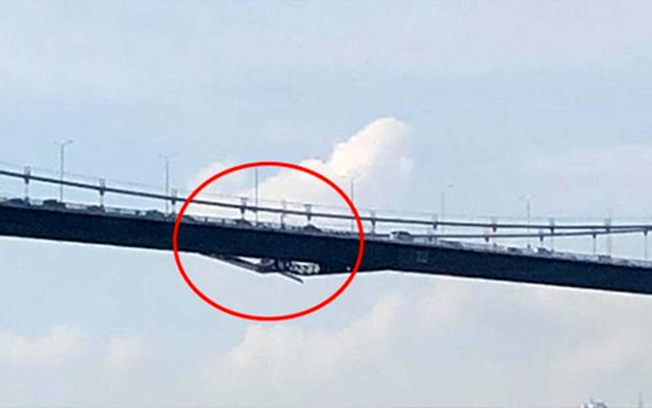 İstanbul'da deprem sonrası boğaz köprüsünde hasar iddiası! Fotoğraf hızla yayıldı