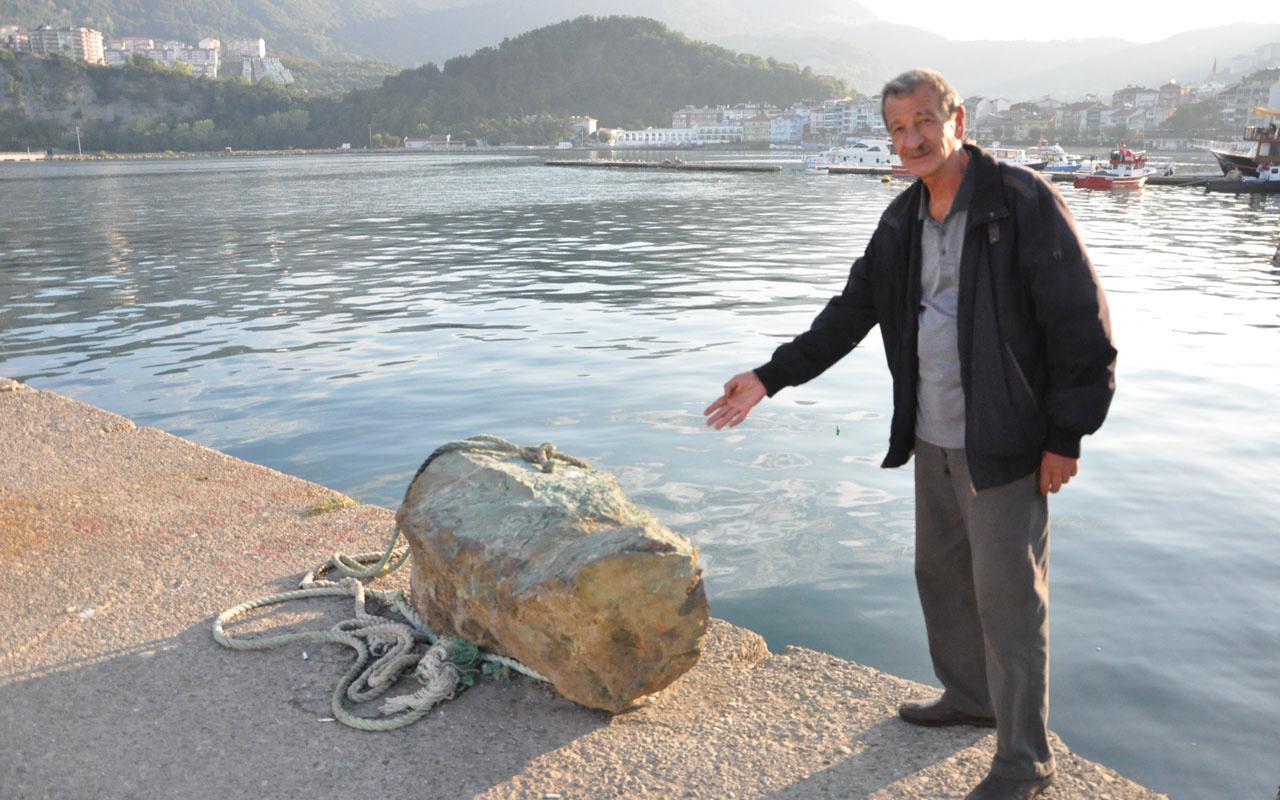 Amasra'da esrarengiz kaya! Balıkçılar denizden çıkardı dünyada eşi yok