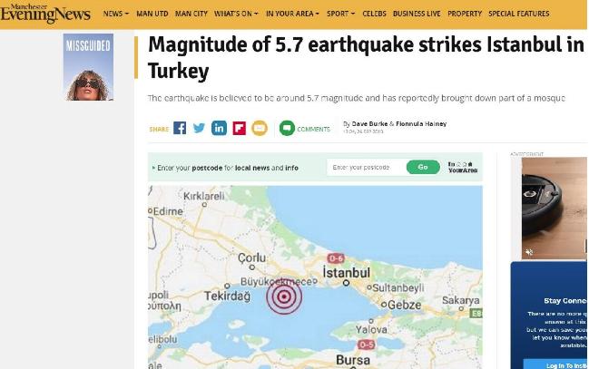İstanbul şiddetli sarsıldı! Dünya basını merakla takip etti