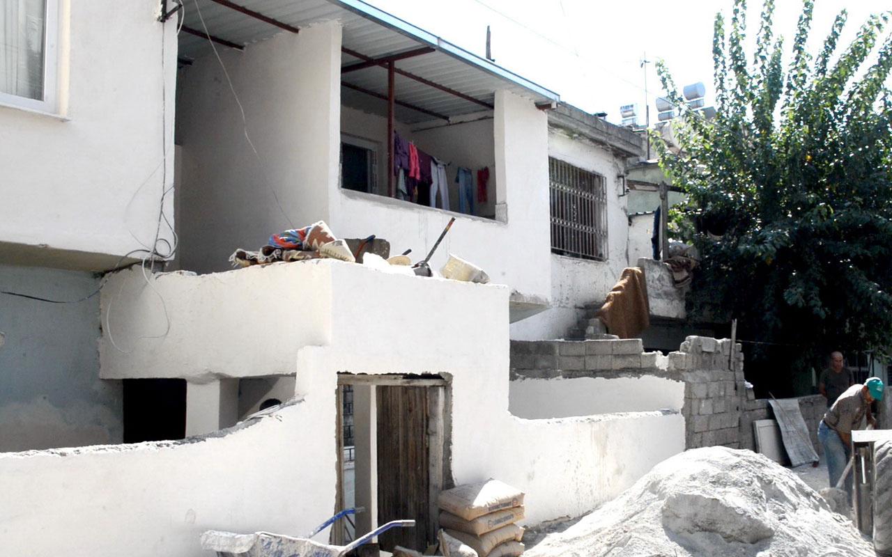 Mersin'de şehit eşinin evi yenilendi