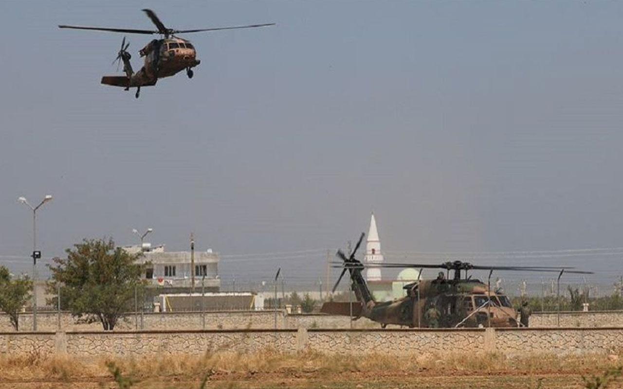 Fırat'ın doğusunda ABD ile 7. ortak helikopter uçuşu