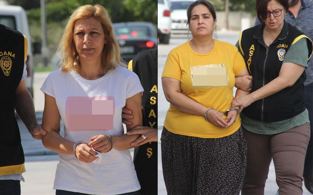 Adana'da cinayet zanlısı 2 kadın giydikleri tişörtlerle mesaj verdiler
