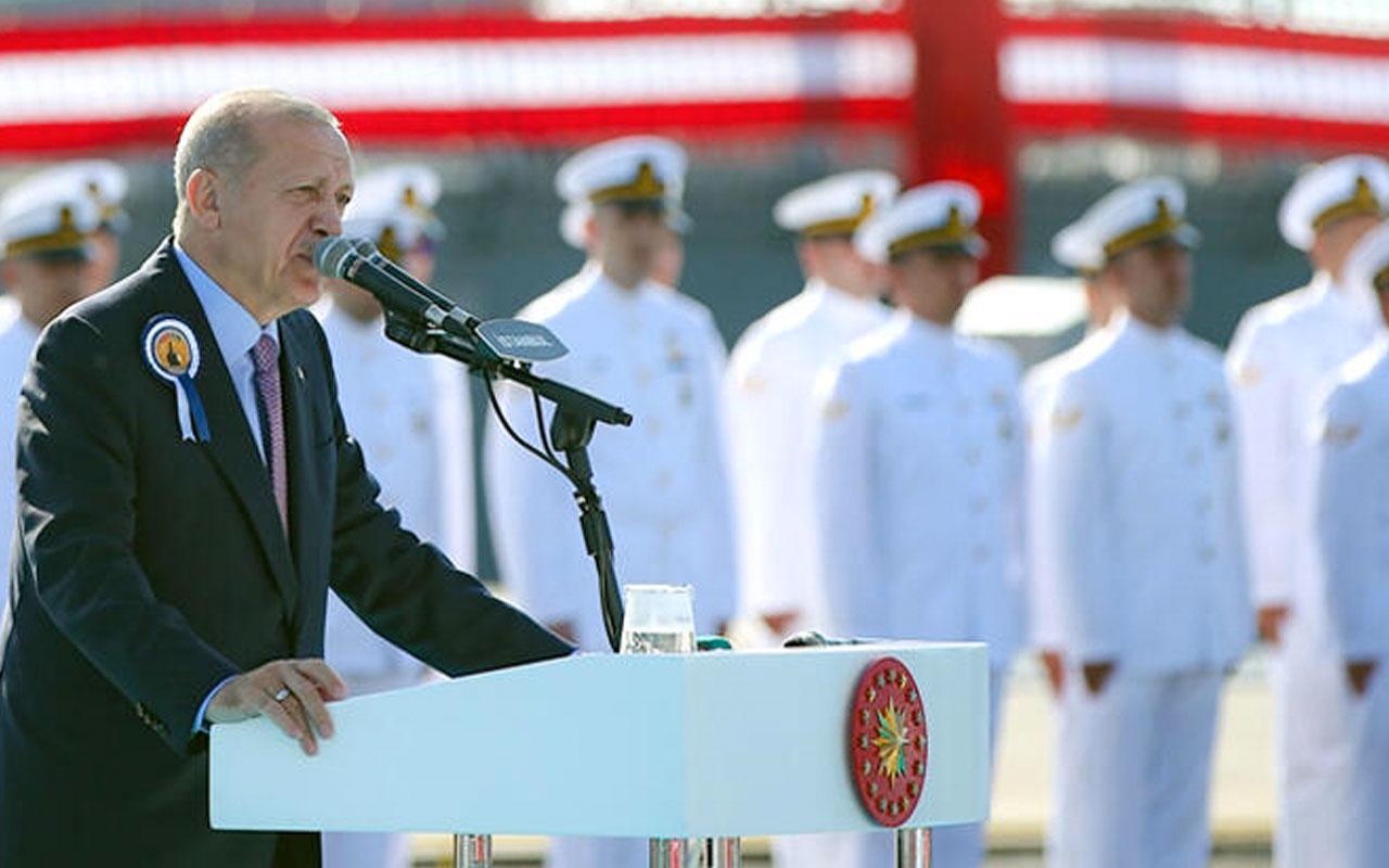 MİLGEM'in 4. gemisi Kınalıada donanmaya katıldı Erdoğan'dan törende önemli açıklamalar