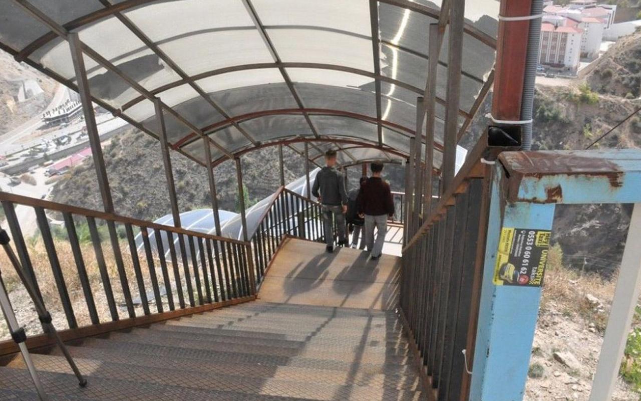Gümüşhane Valiliği, o merdivenler için açıklama yaptı